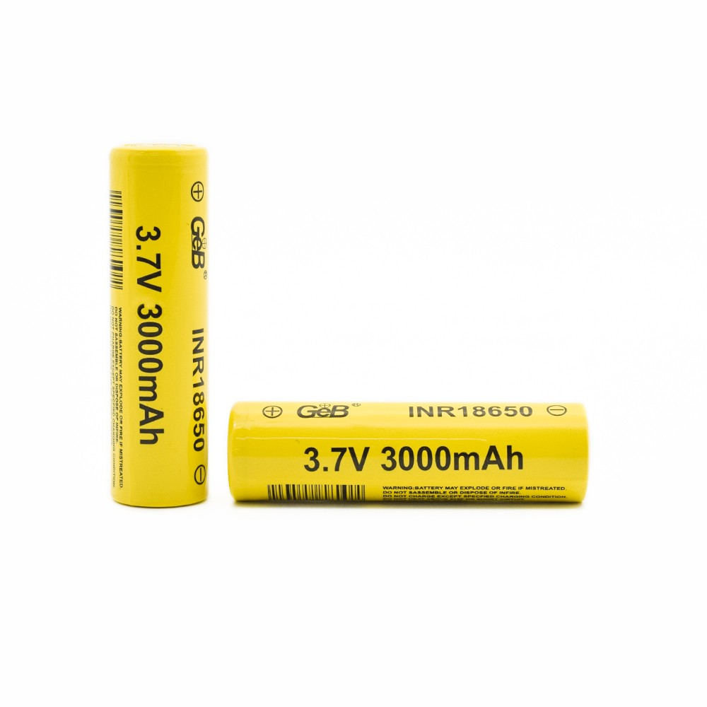 High capacity rechargeable cylindrical 18650 3.7V 3000mah lithium ion battery