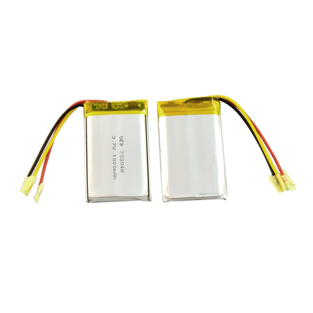 High capacity lipo 703048 3.7v 1000mah polymer lithium battery