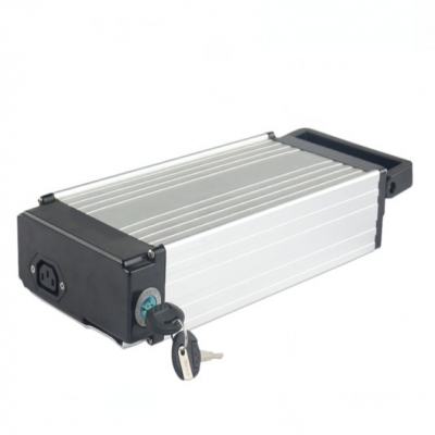 36v 10Ah Lithium ion Electric Bike Battery Pack with Rear Rack Style Case