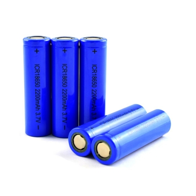 3.7V 2200mAh 18650 rechargeable lithium battery cell