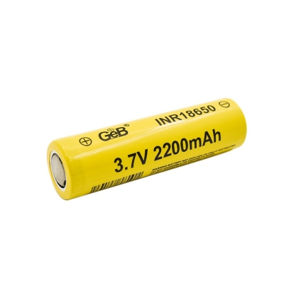 Rechargeable 3.7V 2200mAh lithium battery 18650 li ion cylindrical battery cell