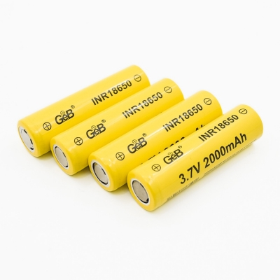 Rechargeable & deep cycle INR18650 3.7v 2000mAh lithium ion 18650 battery cell